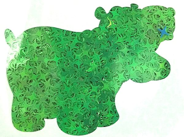 Holographic Shape Glitter! - Green Starbursts