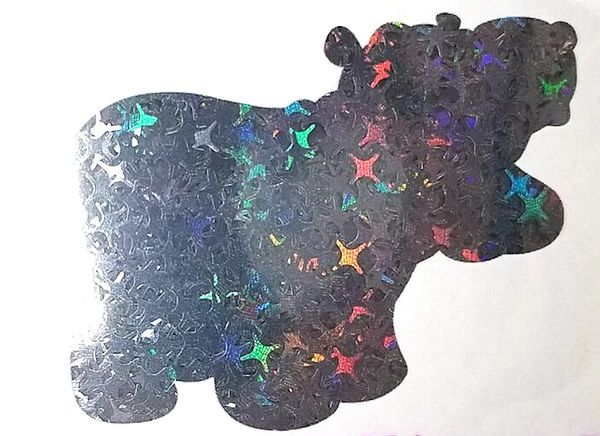 Holographic Shape Glitter! - Black Starbursts