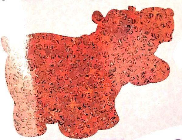 Holographic Shape Glitter! - Orange Starbursts