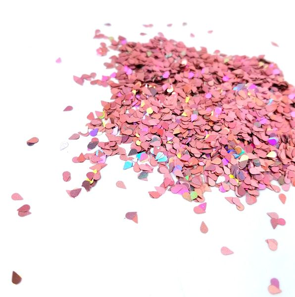 Holographic Shape Glitter! - Dripping in Rose Gold