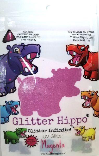 UV Glitter - Magenta
