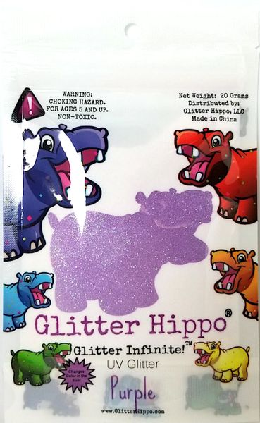 UV Glitter - Purple