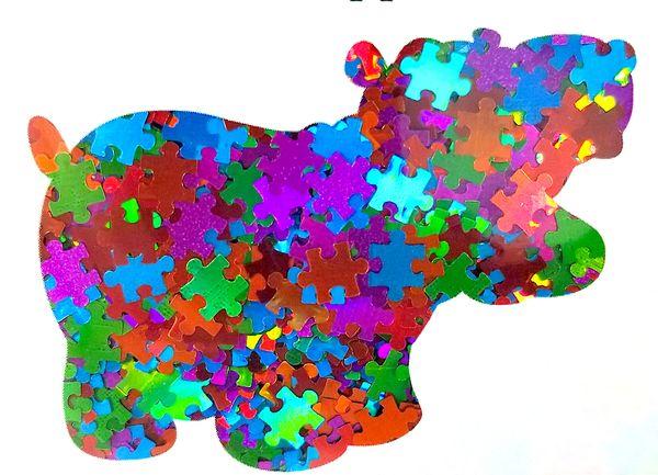 Holographic Shape Glitter! - Multi-Color Puzzle Pieces