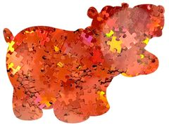 Holographic Shape Glitter! - Orange Puzzle Pieces