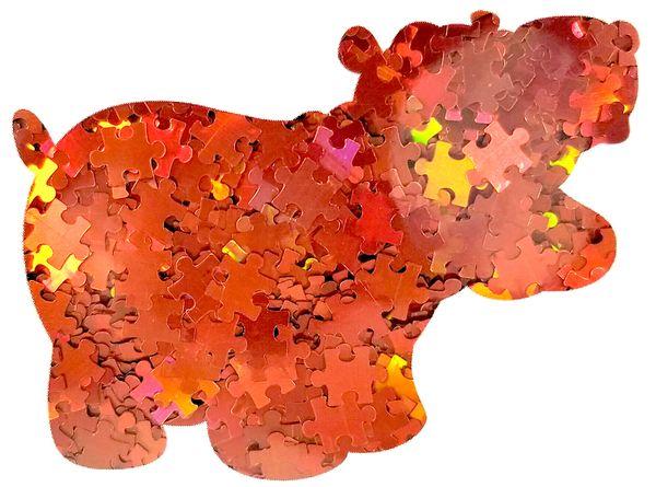 Holographic Shape Glitter! - Orange Puzzle Pieces