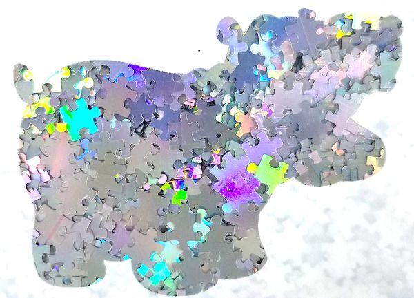 Holographic Shape Glitter! - Silver Puzzle Pieces