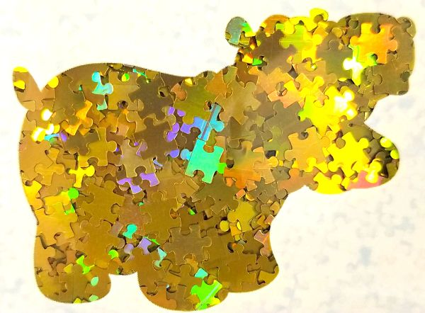 Holographic Shape Glitter! - Yellow Puzzle Pieces