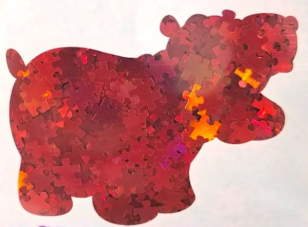Holographic Shape Glitter! - Red Puzzle Pieces