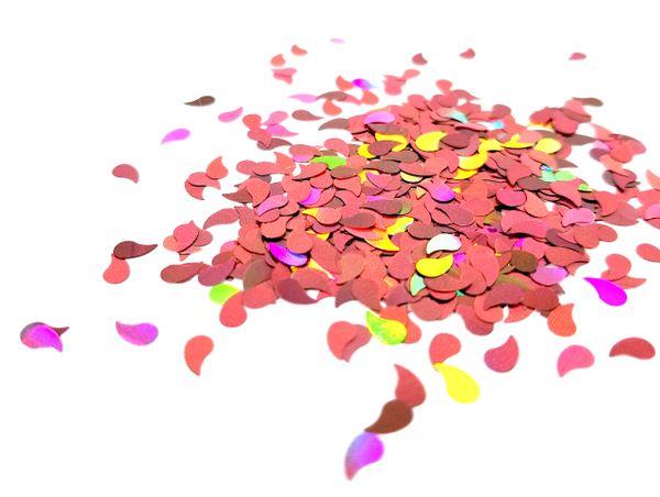Holographic Shape Glitter! - Rose Gold Raindrops
