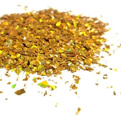 Holographic Mylar Flakes - Golden Reverie