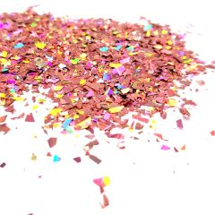 Holographic Mylar Flakes - Enchanted Rose Petals