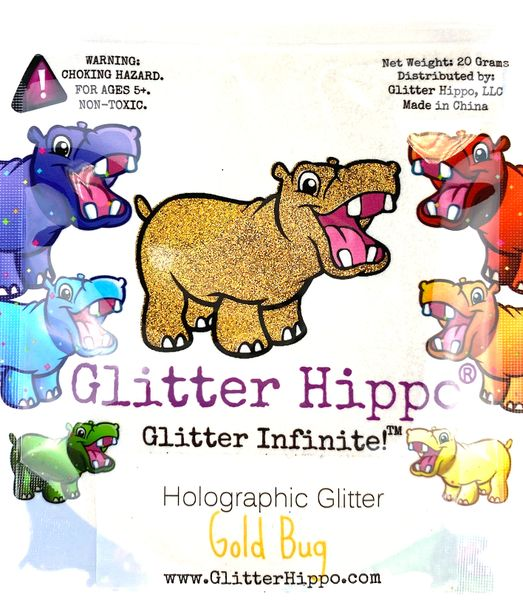 Holographic Glitter! - Gold Bug
