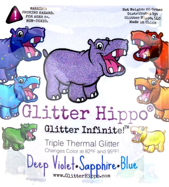 Triple Thermal Glitter - Deep Violet/Sapphire/Blue