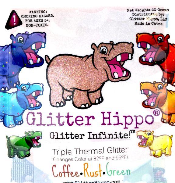 Triple Thermal Glitter - Coffee/Rust/Green