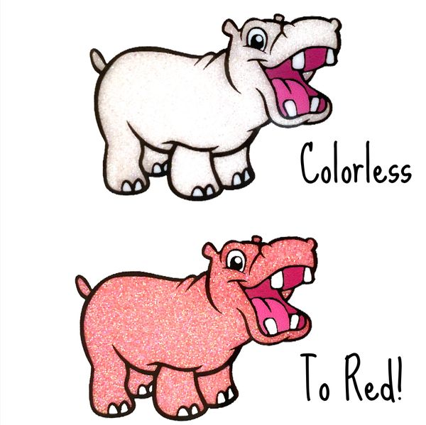 Cold Activated Thermal Glitter - Colorless to Red