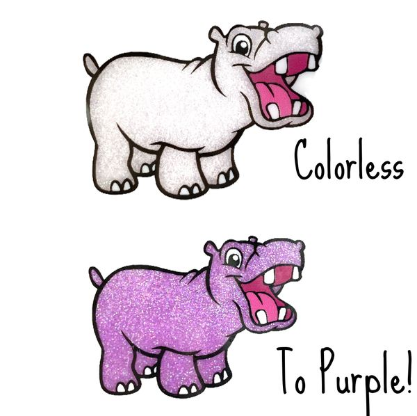 Cold Activated Thermal Glitter - Colorless to Purple