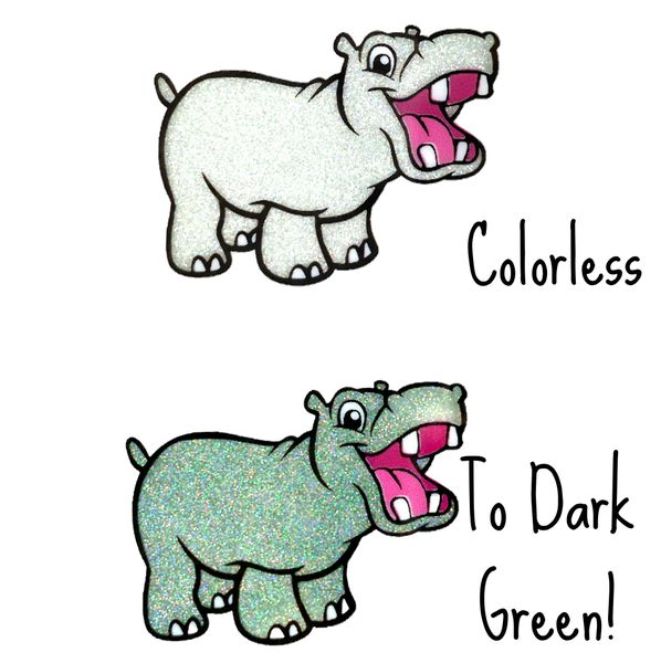Cold Activated Thermal Glitter - Colorless to Dark Green