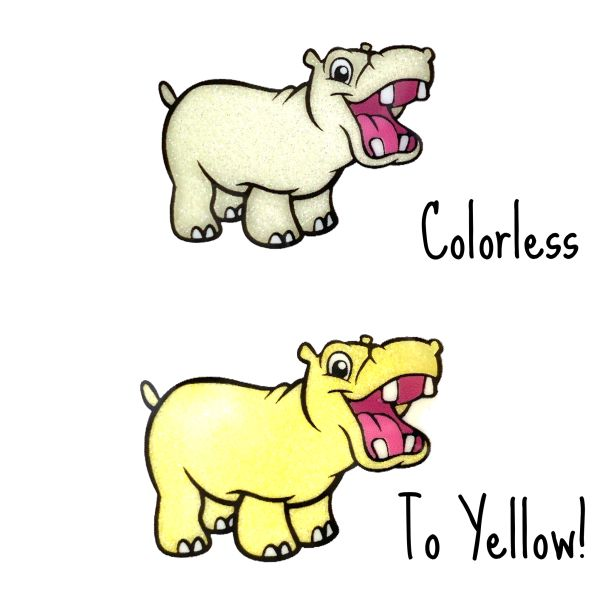 Cold Activated Thermal Glitter - Colorless to Yellow