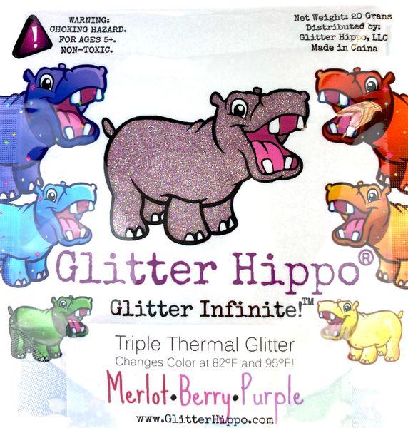 Triple Thermal Glitter - Merlot/Berry/Purple