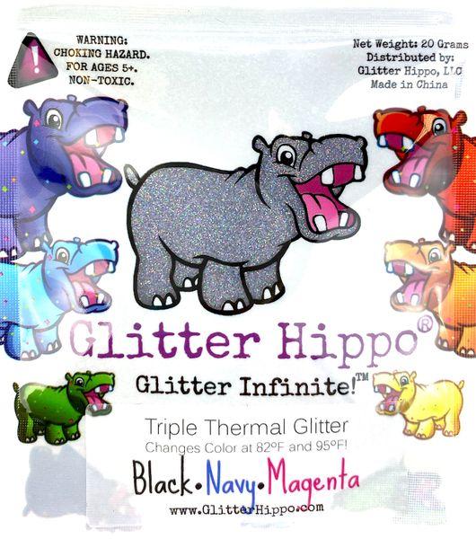 Triple Thermal Glitter - Black/Navy/Magenta