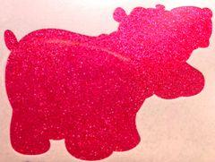 Fluorescent Glitter! - Fuzzy Dice