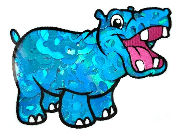 Holographic Shape Glitter - Blue Paw Prints