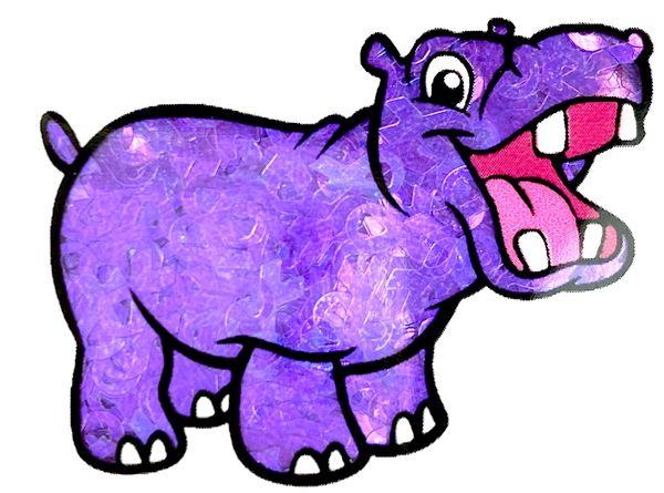 Iridescent Shape Glitter - Purple Awareness Ribbon