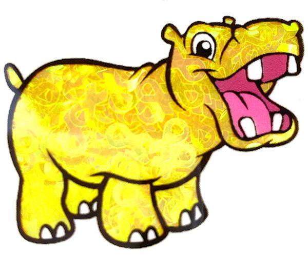 Iridescent Shape Glitter - Yellow Awareness Ribbon