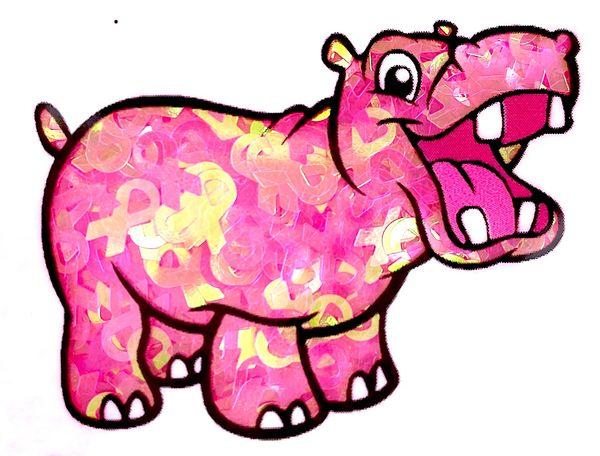 Iridescent Shape Glitter - Pink Awareness Ribbon