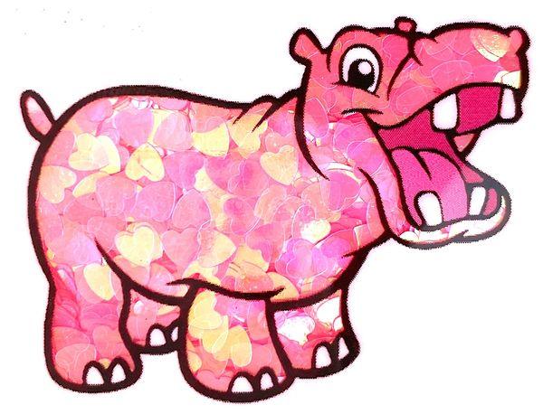 Iridescent Shape Glitter - Pink Hearts