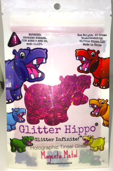 Holographic Tinsel Glitter! - Magenta Metal