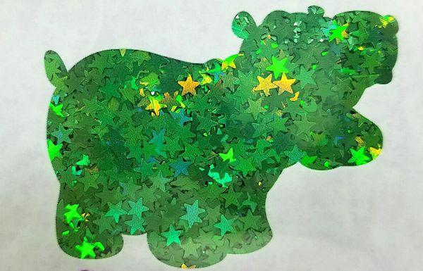 Holographic Shape Glitter! - Green Stars