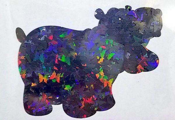 Holographic Shape Glitter! - Black Butterflies