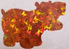 Holographic Shape Glitter! - Orange Butterflies