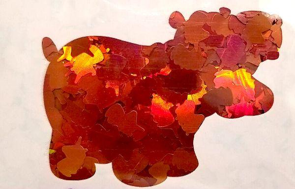 Holographic Shape Glitter! - Orange Unicorns