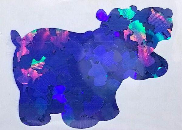 Holographic Shape Glitter! - Blue Unicorns