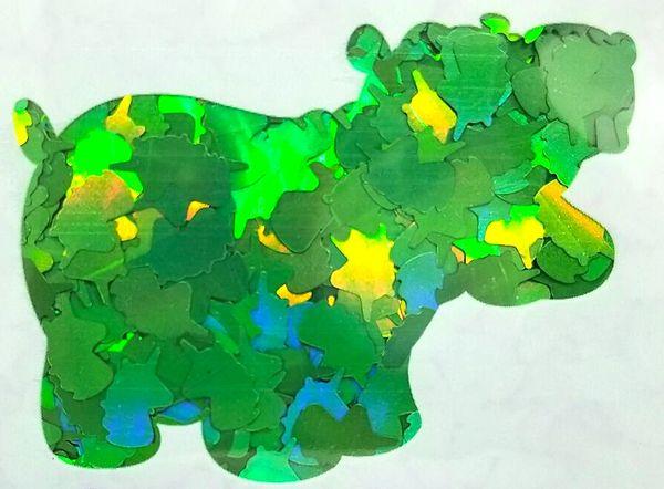 Holographic Shape Glitter! - Green Unicorns
