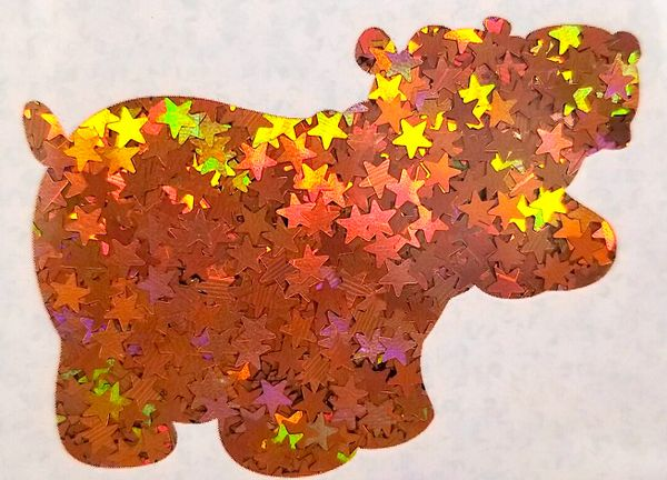 Holographic Shape Glitter! - Orange Stars