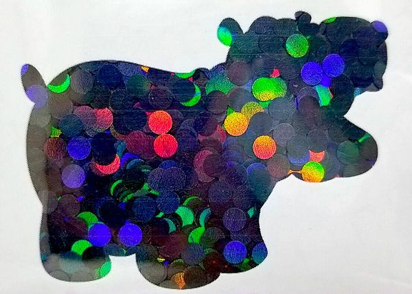 Holographic Shape Glitter! - Black Dots