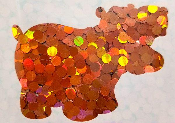 Holographic Shape Glitter! - Orange Dots