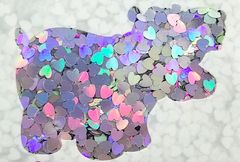 Color Shift Shape Glitter! - Unicorn Hearts