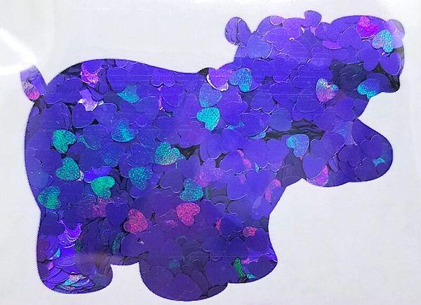Color Shift Shape Glitter! - Dark Hearts