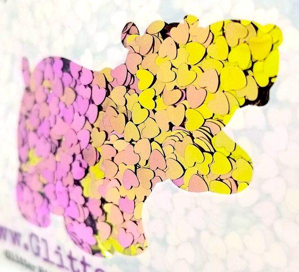 Color Shift Shape Glitter! - Pink Lemonade Hearts