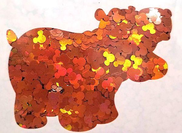 Holographic Shape Glitter! - Orange Mickeys