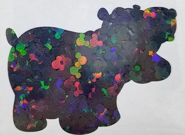 Holographic Shape Glitter! - Black Mickeys