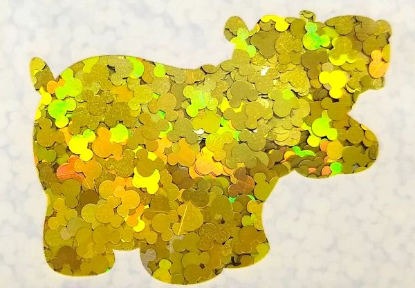 Holographic Shape Glitter! - Yellow Mickeys (Gold Mickeys)