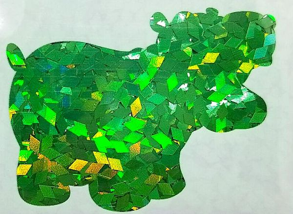 Holographic Shape Glitter! - Green Diamonds