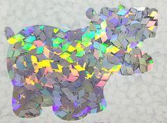 Holographic Shape Glitter! - Silver Diamonds