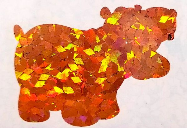Holographic Shape Glitter! - Orange Diamonds