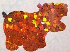 Holographic Shape Glitter! - Orange Hearts
